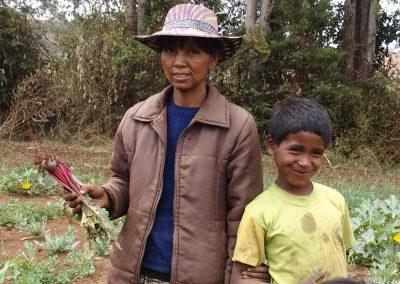 Productrice légumes bio marché Madagascar