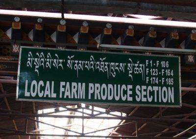 Produits fermiers locaux marché Timphu Bhoutan