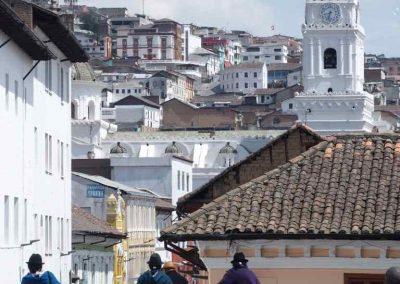 Quartier historique Quito Equateur