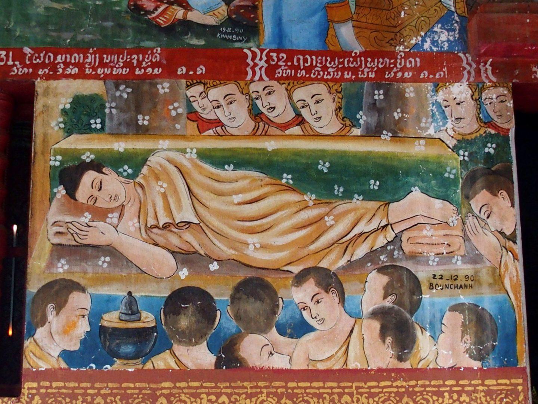 Repos de Bouddha Peinture Laos