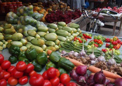 Stand légumes marché Stone Town Zanzibar