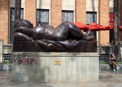 Statue Botero à Medellin Colombie