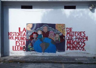 Street art Femmes Quito Carnet de voyage en Equateur