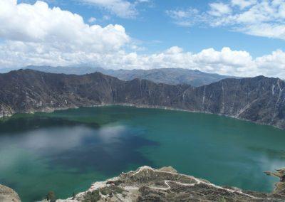 Superbe lagune Quilotoa Equateur