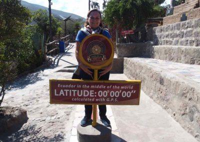 Sur la ligne de l'Equateur