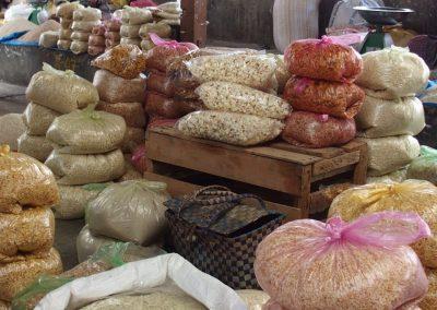 Vente céréales marché Timphu Bhoutan