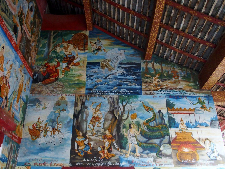 Vie de Bouddha Peinture Laos