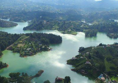 Vue depuis le Penon de Guatape Colombie