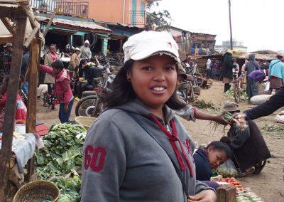 Avec adhérente Slow-Food sur marché Madagascar