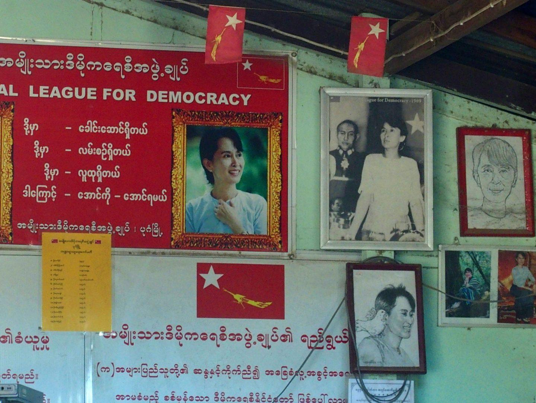 Bureau campagne électorale Bagan Birmanie