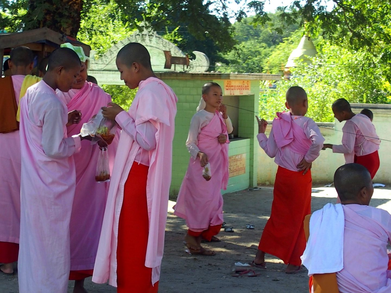 Cour école à Mandalay Birmanie