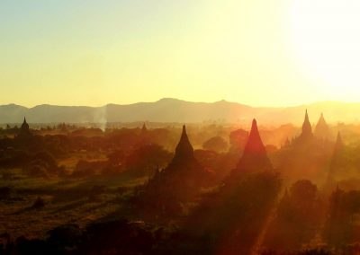 Fin de journée Bagan Birmanie