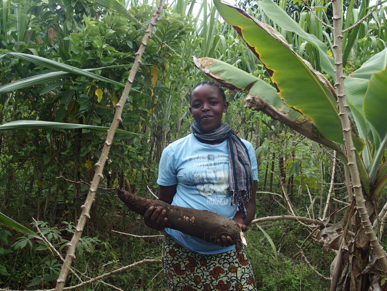 Jeune fille et manioc Tanzanie