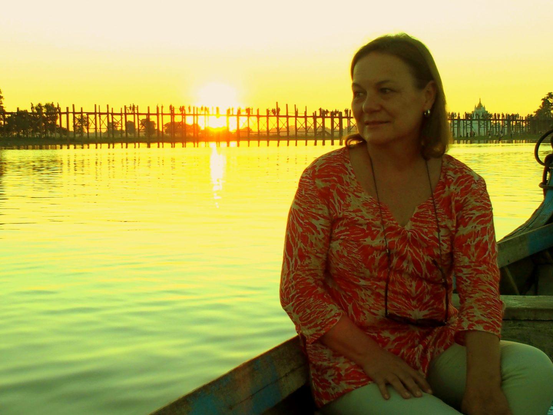 Rêverie sur lac doré U Bein Amaraoura Birmanie