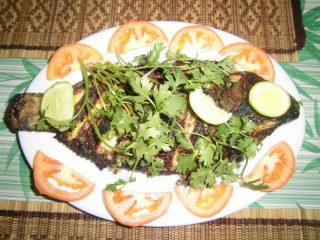 Poisson grillé du lac d'Inle – Birmanie