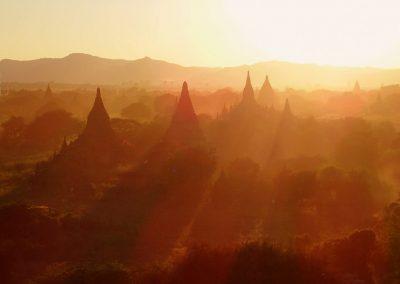 Soirée à Bagan Birmanie