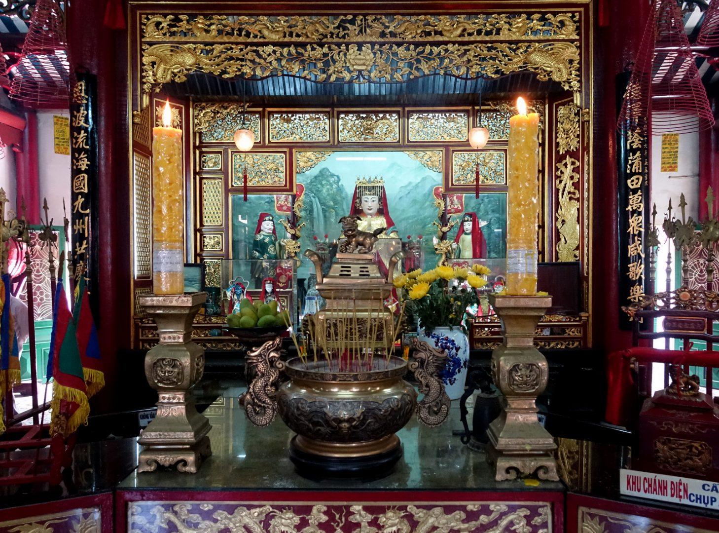 Autel Temple Congrégation chinoise Hoï An Vietnam