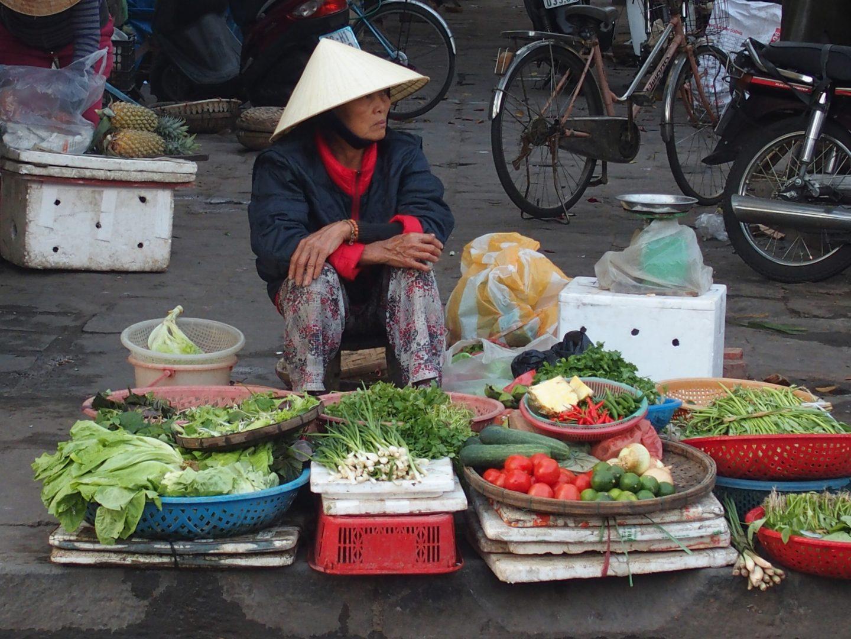 Etal du marché de jour Hoï An Vietnam