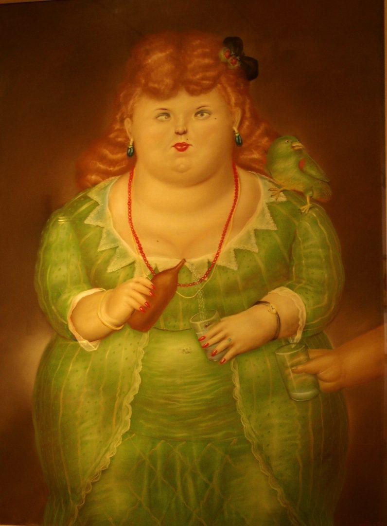 Femme à la bouteille Musée Botero Bogota