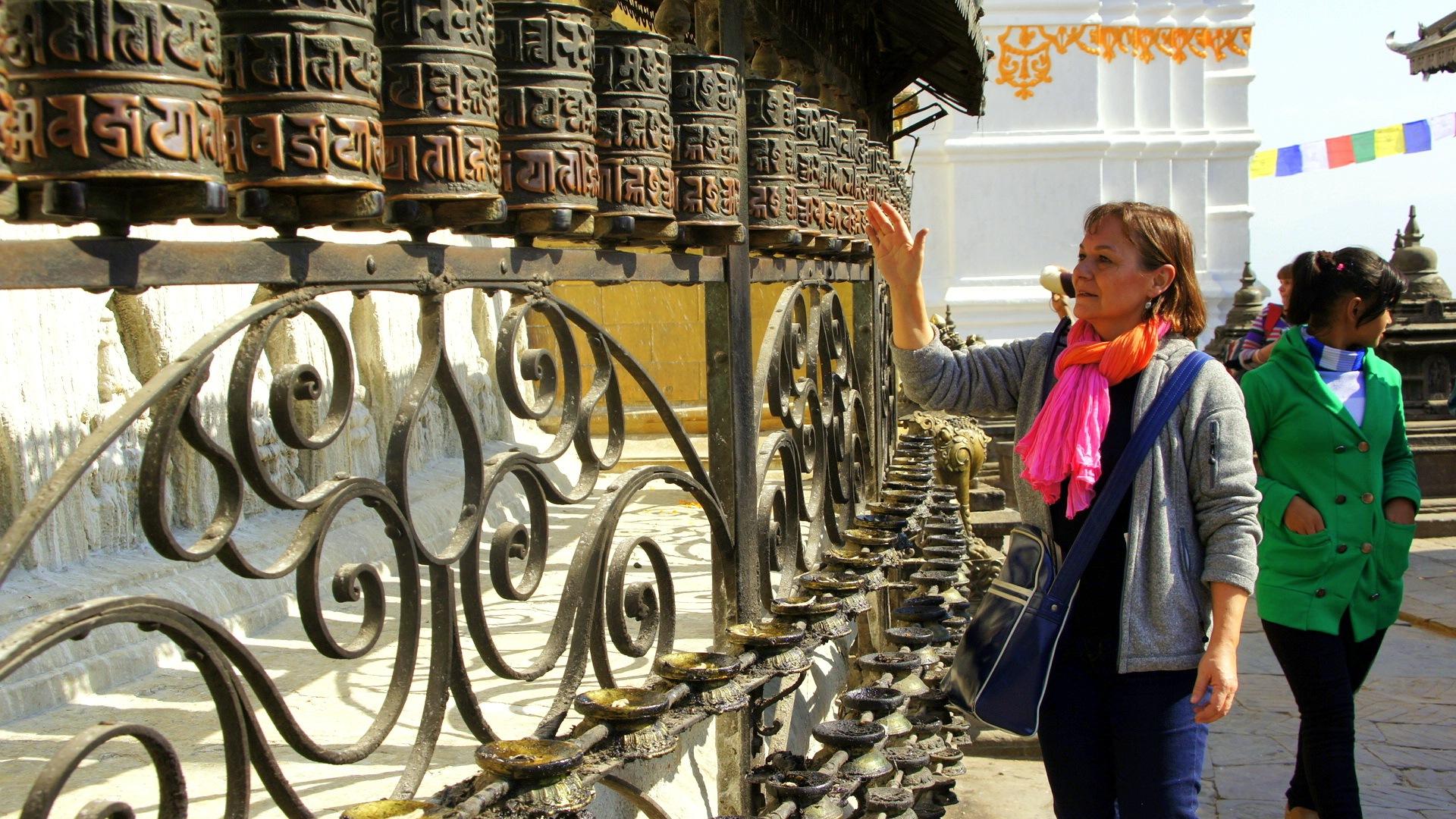 Moulins à prière Swayambhunath Népal