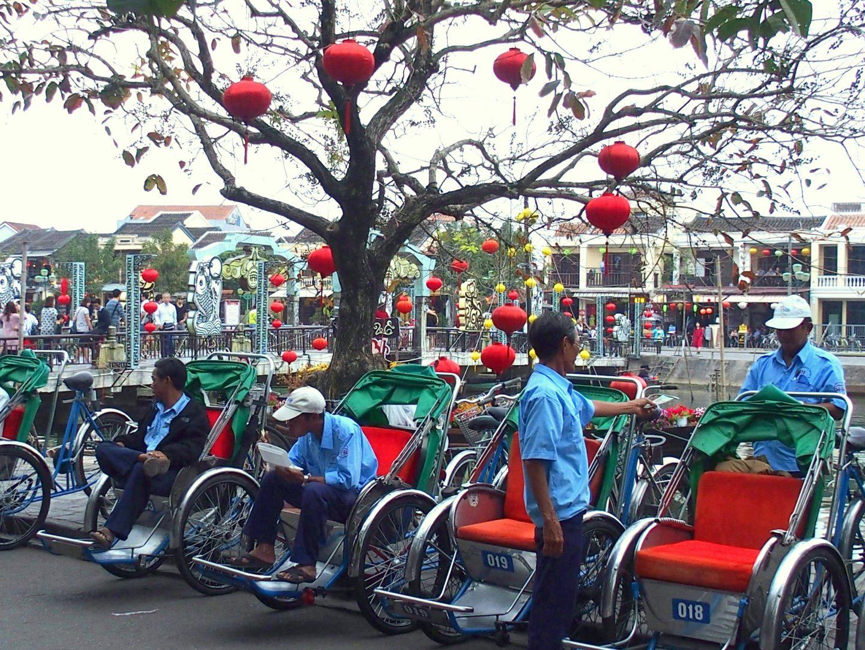 Tuk-tuk et lampions Hoï An Vietnam
