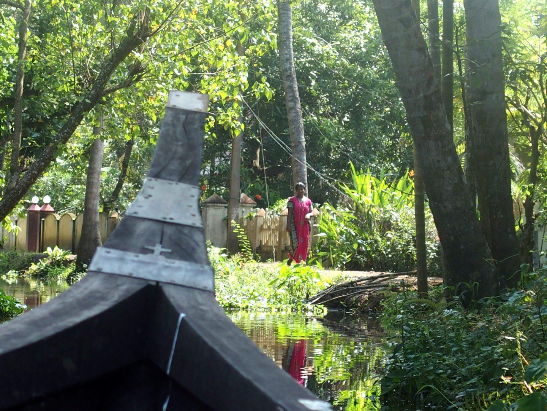 Accueil devant la homestay Nelpura Heritage Inde