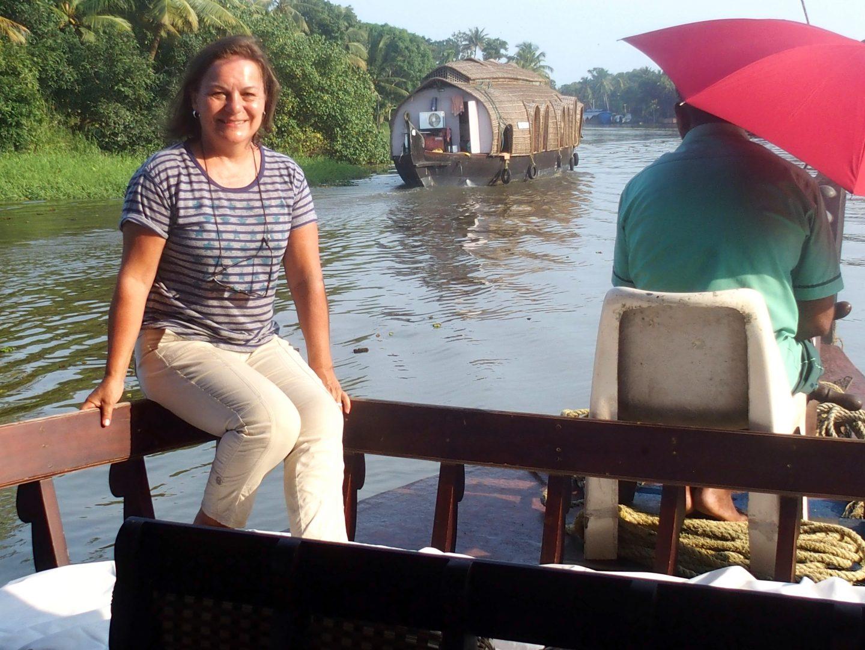 Au rythme de l'eau sur houseboat backwaters Allepey Kerala Inde