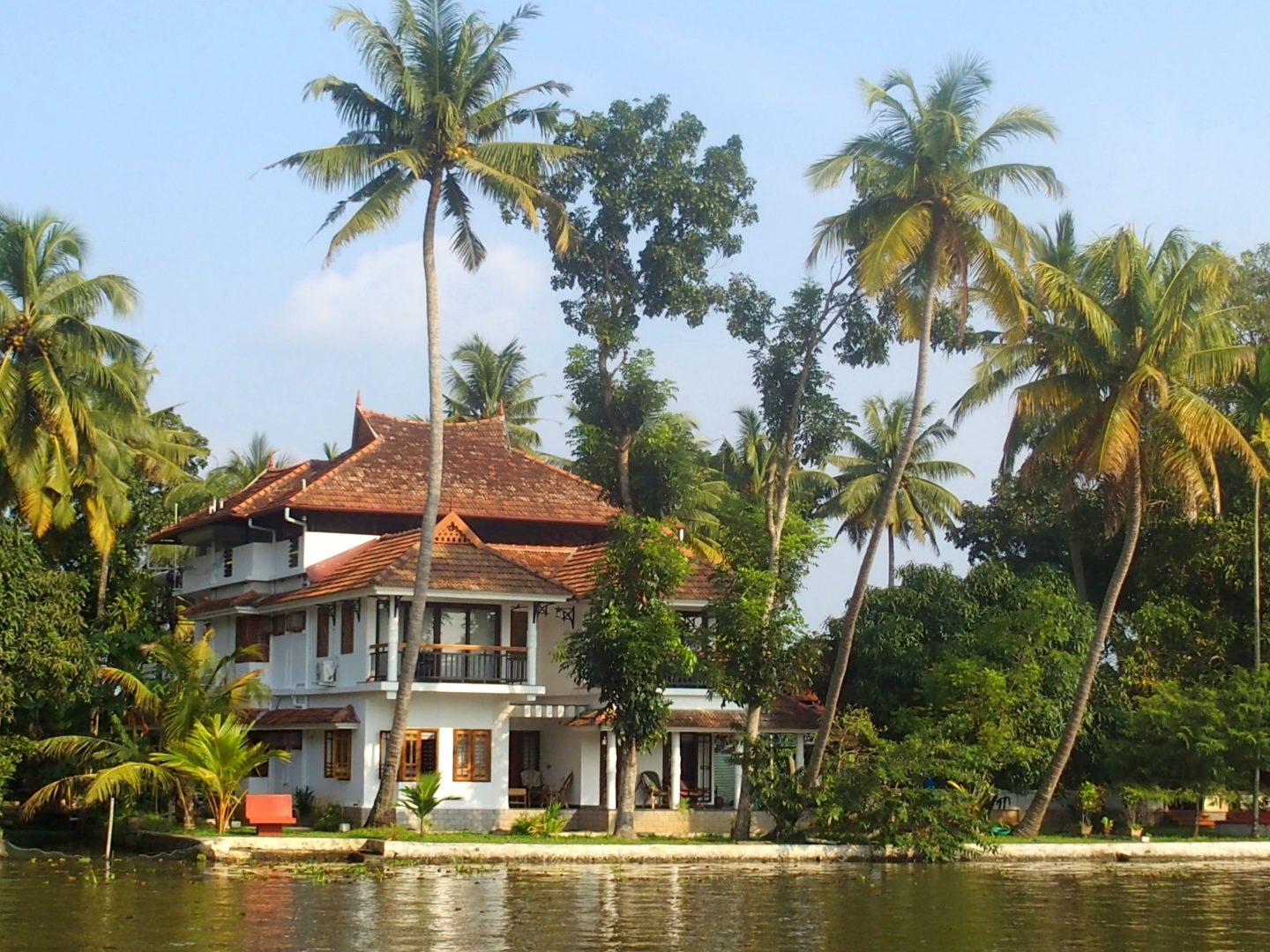 Belle maison rive backwaters Allepey Kerala Inde