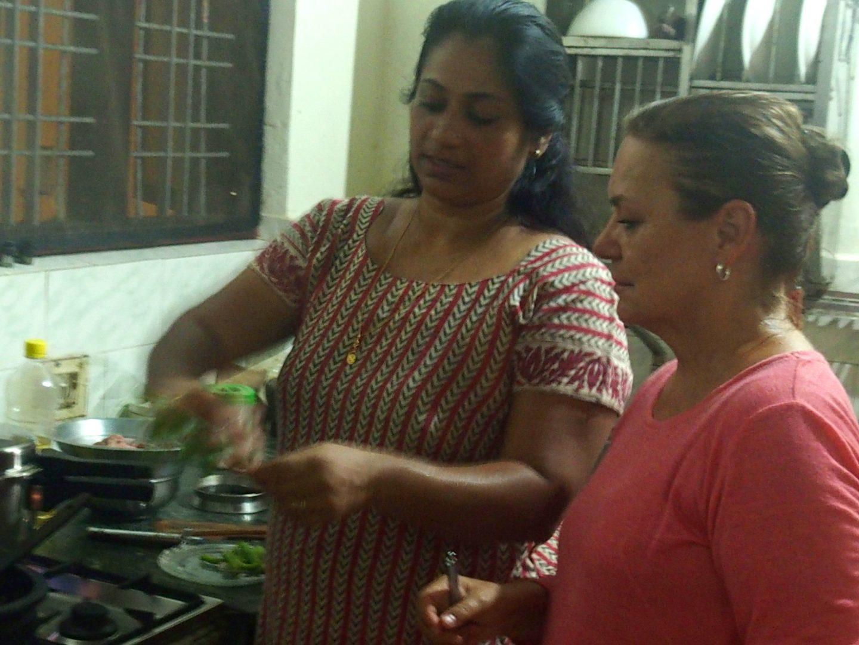 Cuisine à Nelpura Heritage Homestay Kerala Inde