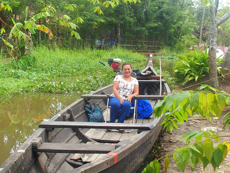Départ de Nelpura Heritage homestay en barque Kerala Inde