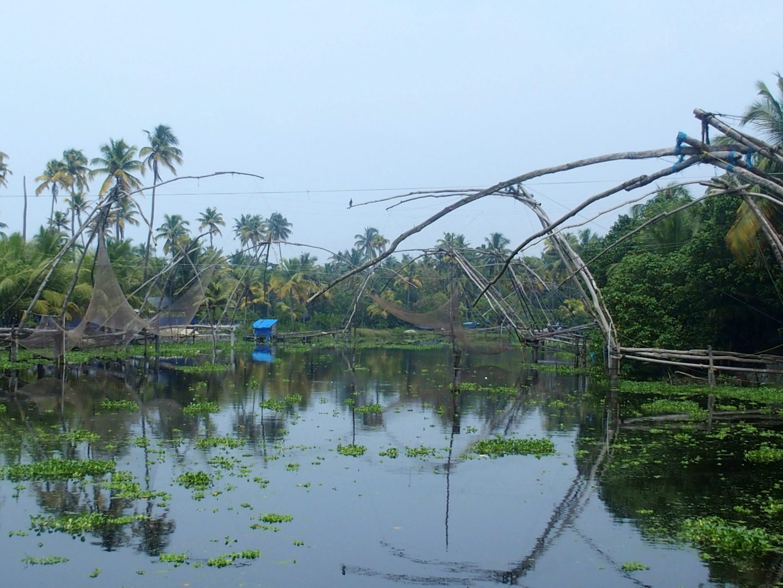 Filets pêche Allepezha Kerala Inde