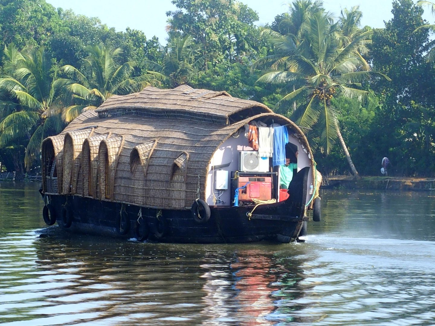 Houseboat traditionnel Allepey Kerala Inde