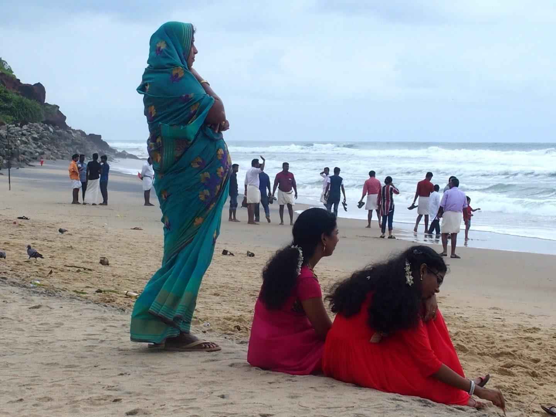 Indiens plage Varkala Kerala Inde