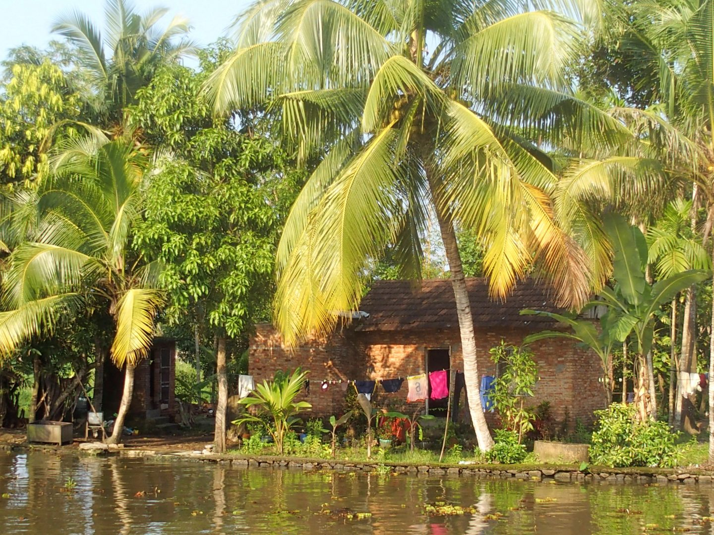 Maison rive backwaters Allepey Kerala Inde