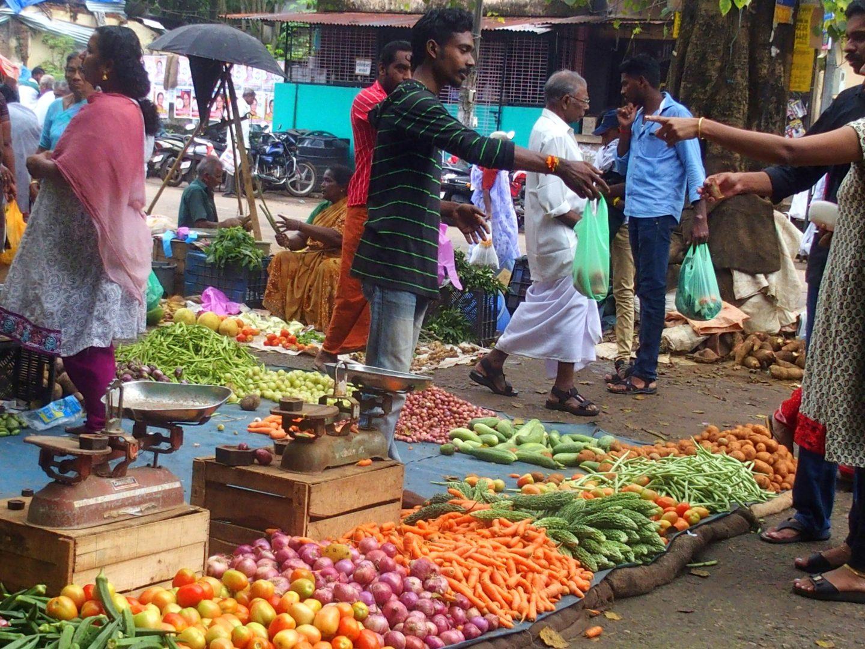 Marché aux légumes Vishram Kerala Inde