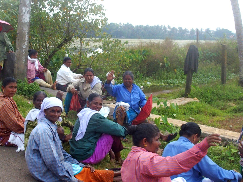 Pause dans les champs Allepezha Kerala Inde