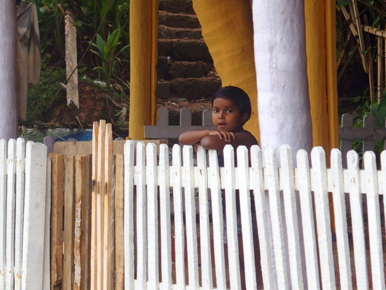 Petit garçon curieux Varkala Kerala Inde