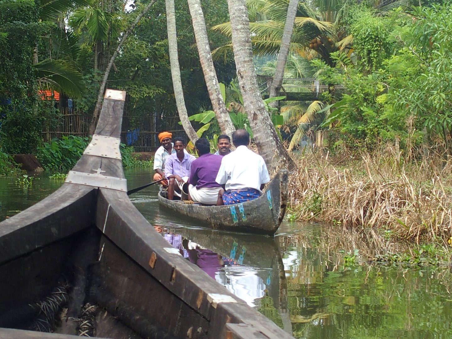 Rencontres sur canal backwaters Kerala Inde