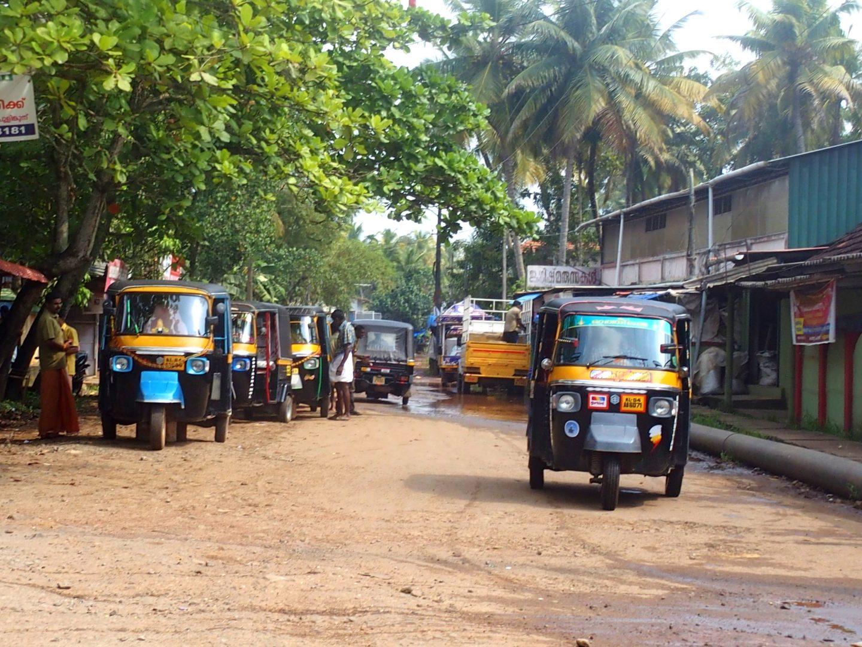Station rickshaw Vishram Kerala Inde