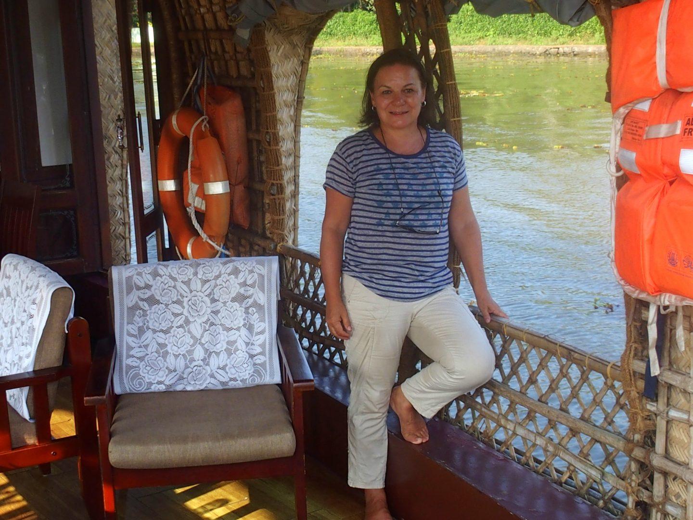 Sur houseboat backwater Allepey Kerala Inde
