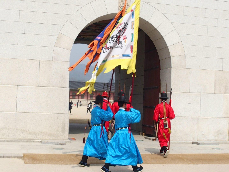 Changement de garde Palais royal Séoul Corée du sud