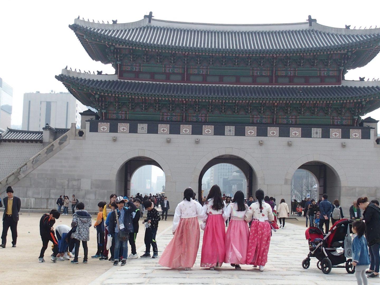 Cour du Palais Royal Séoul Corée du sud