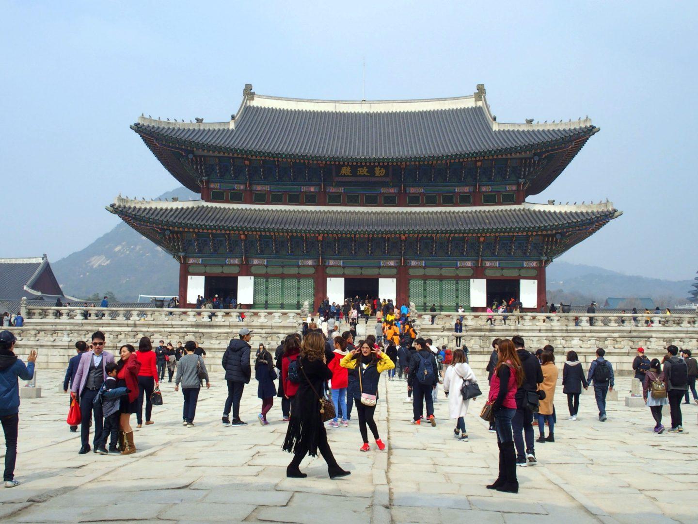 Cour du Palais royal Seoul Corée du sud