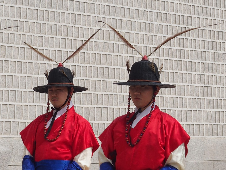 Gardes du Palais Royal Séoul Corée du sud