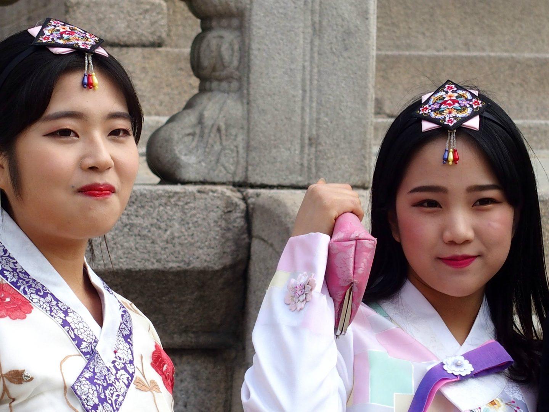 Jeunes coréennes Seoul Corée du sud