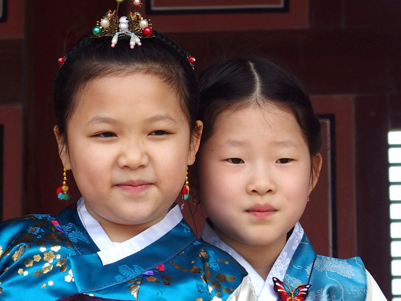 Jolies petites coréennes Séoul Corée