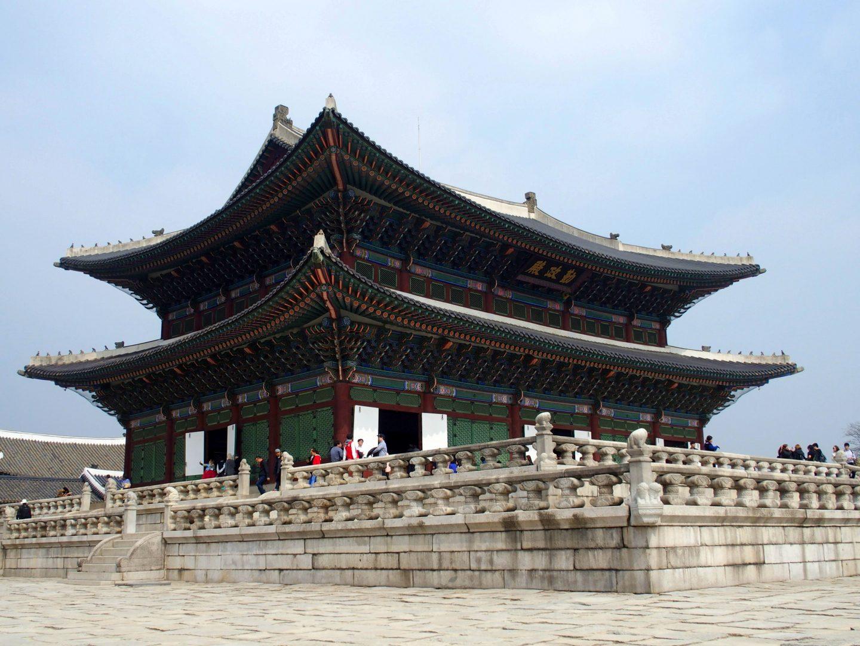 Pavillon en bois Palais royal Seoul Corée du sud
