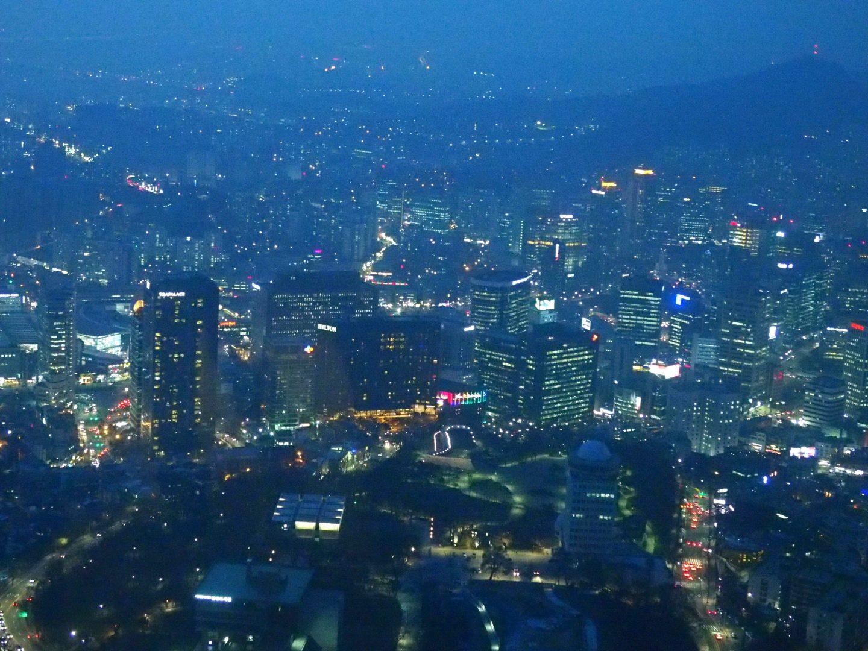 Seoul by night NTower Corée du sud
