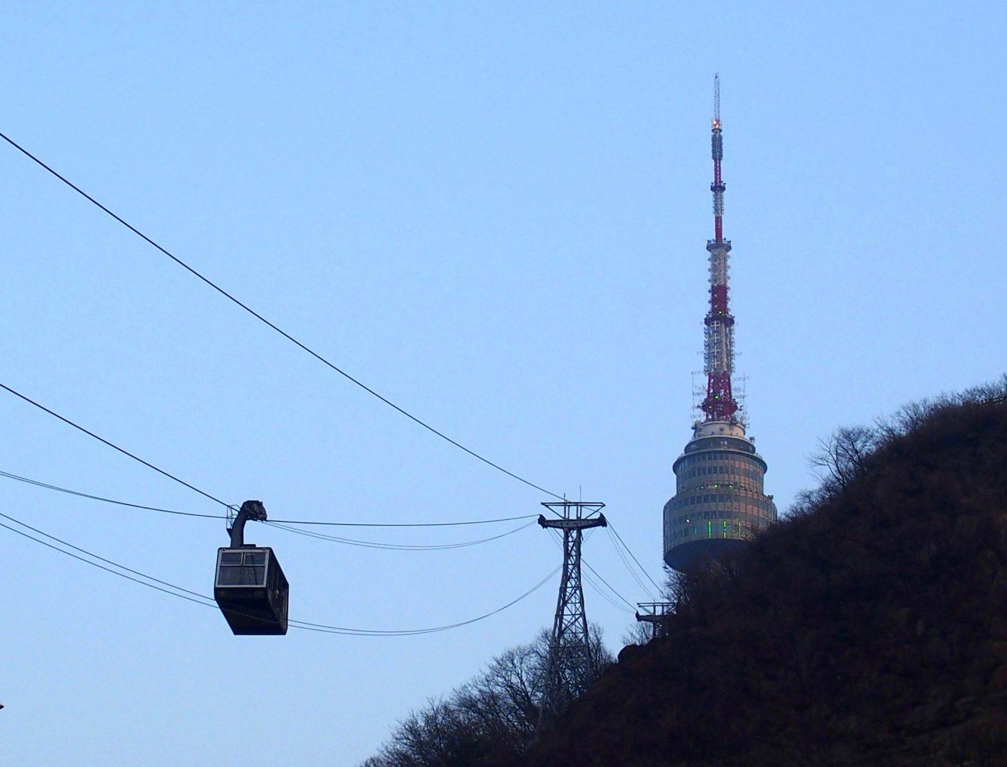 Téléphérique NTower Séoul Corée du sud