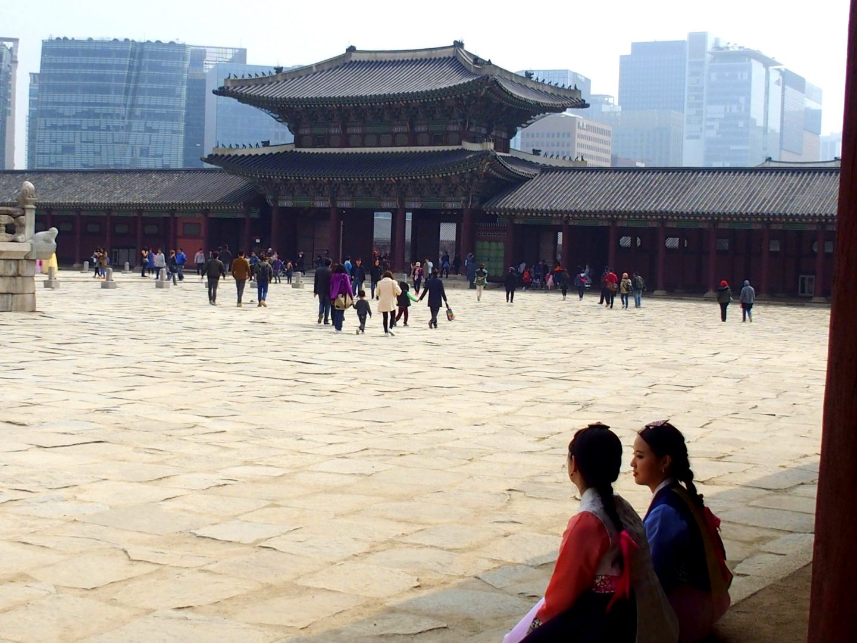 Tradition et modernité architecture Palais royal Seoul Corée du sud